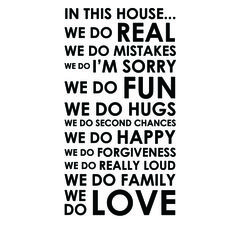 Wall Decal - In This House We Do Real.... Starting at $1 on Tophatter.com!