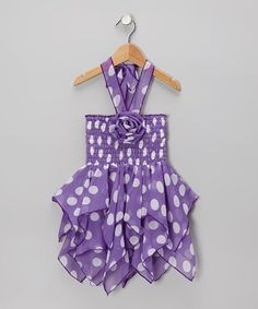 Take a look at this Lele for Kids Purple & White Polka Dot Handkerchief Dress - Toddler & Girls on zulily today! Toddler Girl Dresses, Toddler Girls, Girls Dresses, Handkerchief Skirt, Purple Party, Purple Lace, Baby Crafts, Diy Craft Projects, Lace Dress
