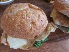90 Ways to Make Chicken: Mustard-chicken sandwiches with caramelized onions and fontina