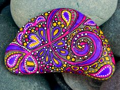 Kaleidoscope Dreams / Painted Rock/ Sandi Pike by LoveFromCapeCod, $46.00