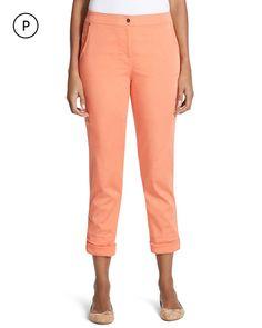 Chico's Women's Zenergy Petite Payton Cargo Crop Pants