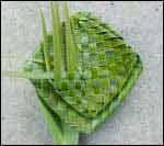 weaving a flax flower step 12