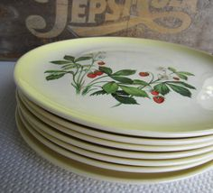 Vintage Strawberry Taylor Smith Taylor Dinner by corrnucopia, $25.00