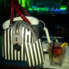 HB bag w/red handles