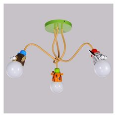 Buy Modern Fashion Cartoon Little Animals Flush Mount Ceiling Light 3 Lights with Lowest Price and Top Service!