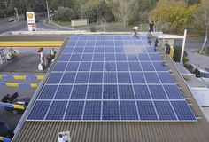 30kWp Roof Solar Power System for Shell Gas Station in Australia Location:Melbourne, Australia