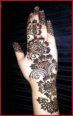 Indian Mehndi Designs For Hands Step by Step