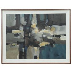 Buy Abstract Painting  by Lee Stanton - Limited Edition designer Accessories from Dering Hall's collection of Mid-Century Modern Modern Art.