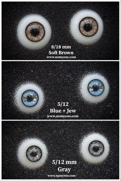 ::. 𝐃𝗼𝐥𝐥 𝐞𝐲𝐞 .:: • Soft Brown : 8/18 mm • Blue + Jew : 5/12 mm • Gray : 5/12 mm www.nomyens.com #bjd #abjd #balljointdoll #dollofstargram #instadoll #dollstargram #toy #paint #painting #painted #repaint #handmade #nomyens #nomyensfaceup #bjdeye #bjdeyes #dolleyes #dolleye #dolleyecaft Star G, Doll Eyes, Ball Jointed Dolls, Bjd, Gray, Toys, Brown, Handmade, Painting