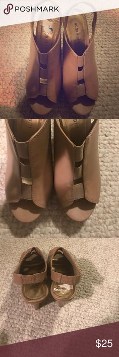 Madden Girl Tan Heels Great contrition , worn them two times . Madden Girl Shoes Heels