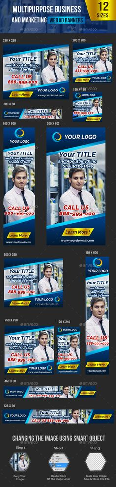Multipurpose Business and Marketing Web Ad Banner - Banners & Ads Web Elements