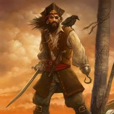 A sailor meets a pirate in a bar, and take turns boasting of their adventures on the high seas. The sailor notes that the pirate has. Pirate Art, Pirate Life, Pirate Ships, Pirate Flags, 3d Character, Character Design, Character Portraits, Pirate History, Famous Pirates