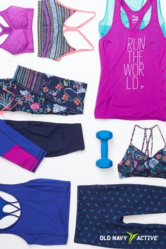 We recommend mixing and matching with this gorgy purple pallette  — being able to pick blindly from your stacks and *know* you'll look cute makes those AM workouts that much easier.