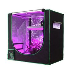 "Hydroponic Grow Tent Reflective Mylar Indoor Growing Room Dark Room 36""x24""x36"" #GLEAF"