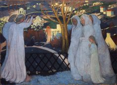 Maurice Denis (France, 1870-1943) Holy Women Near the Tomb (also known as L'Heure Bleue)  1894