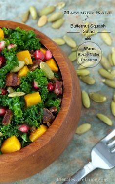 massaged kale and butternut salad super healthy and crazy delicious ...