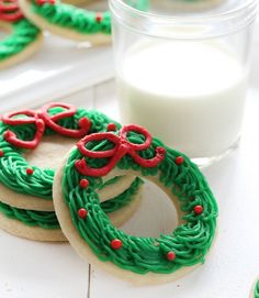 Share With Your FriendsCreating a Sugar Cookie Christmas Wreath is fast, easy, and fun for everyone! This is one of the easiest cookies I have ever made! To make them you will need: 1 recipe sugar cookies (That is the BEST recipe) 1 recipe buttercream (below) 2 1/2 inch round cookie cutter 2-inch round cookie cutter …