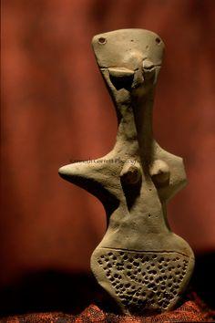 Terracotta female figurine; Oxus Civilization; Turkmenistan; Gonor Depe site; Victor Sarianidi; Copyrig...
