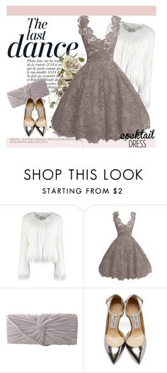"""Cocktail Dress"" by andrejae ❤ liked on Polyvore featuring Anja, J. Furmani, Jimmy Choo and cocktaildress"