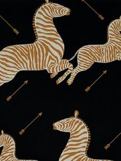 DecoratorsBest - Detail1 - Scala WP81388M-005 - Zebras - Black - Wallpaper - DecoratorsBest