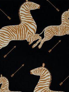 DecoratorsBest - Detail1 - Scala WP81388M-005 - Zebras - Black - Wallpaper - DecoratorsBest