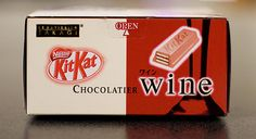 Wine kit kat. Only in Japan for the moment  #wine