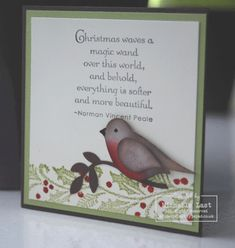 November 22, 2010    Stampin Up Christmas Cards | bird punch robin