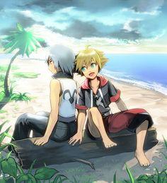 Resultado de imagen para sora y riku anime