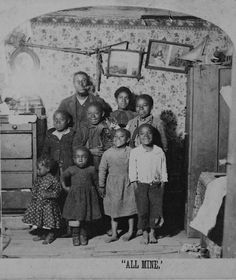 Father and children...circa 1890's. I love these beaming faces - who says poverty makes for miserable kids?