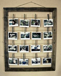 Ideias charmosas de expor fotos na parede