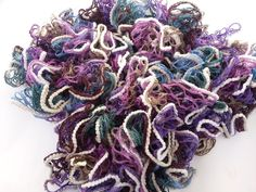 Ruffle Scarf Sashay Scarf Crocheted Scarf Twist by Istanbulcolors, $15.00