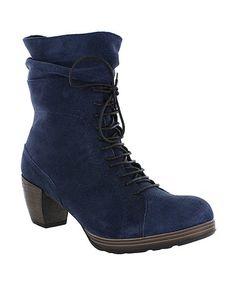 Look what I found on #zulily! Blue Dhofar Suede Boot #zulilyfinds