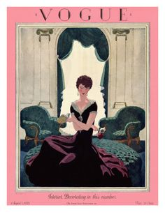 Vogue Cover - August 1925 .