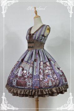 Neverland Lolita (SuffleSong) -Steampunk Cat- Lolita High Waist Corset JSK