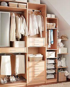 Small closet organizing tips by My Paradissi Wardrobe Organisation, Small Closet Organization, Laundry Room Storage, Closet Storage, Organization Ideas, Small Master Closet, Master Closet Design, Small Closets, Wardrobe Closet