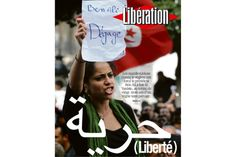 Ameni Ghimagi en une de «Libération» le 15 janvier 2011.