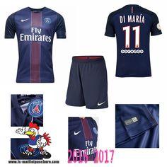 Promo Maillot Du Paris Saint-Germain Bleu Enfant (DI MARIA 11) Domicile…