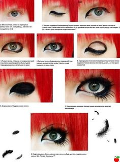 Dramatic eye makeup. Not for me but pretty