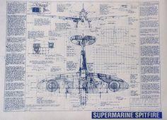 Supermarine Spitfire Blueprints - Silodrome