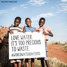 It's World Water Day Yet too many people still don't have access to clean drinking water. Help us spread the word and save this precious resource. Water is the foundation of life - we all need it!