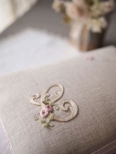 embroidered ~ monogrammed pillow