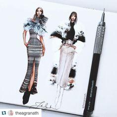 #Repost @theagranath with @repostapp. Fashion Week  (@alexandrelahaye) #fashionillustration #fashionillustrator #fashionsketch #illustration #illustrator #drawing #sketch #streetstyle #beauty #model #moleskine #sophietheallet #saintlaurent #nyfw