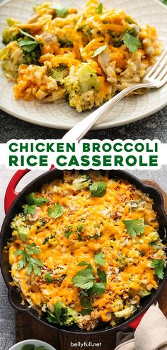 This Chicken Broccoli Rice Casserole includes seasoned chicken, fresh broccoli, and converted rice mixed together with a sour cream and mayonnaise mixture, then topped with two kinds of cheese and buttery breadcrumbs. Cooked up all in one pan, so clean up is a breeze! Easy and delicious weeknight dinner.