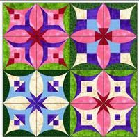 Изображение Cathedral Window Quilts, Cathedral Windows, Star Blocks, Quilt Blocks, Origami Quilt, Owl Quilts, Japanese Patchwork, Quilt Labels, Fabric Manipulation