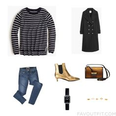 Clothing Mix And Match With J.crew Sweater, Wool Coat, J Brand Jeans And Leather Boots From October 2015