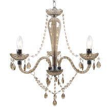 Champagne Antoinette 3 Light Fitting | Dunelm Mill