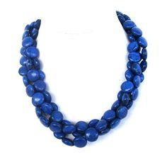 Chunky blue necklace  statement necklace  by BijouxDesignsStudio, $39.00