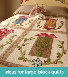 Ideas for large-block quilts
