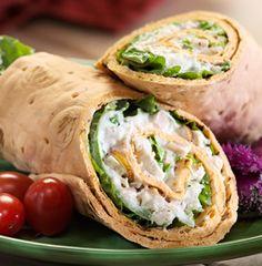 Grilled Tarragon Chicken Salad Wrap