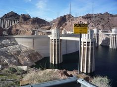 Viewing area of the towers, Hoover Dam, and the Mike O'Callaghan–Pat Tillman Memorial Bridge, near Las Vegas, Nevada.   Go to www.YourTravelVideos.com or just click on photo for home videos and much more on sites like this.